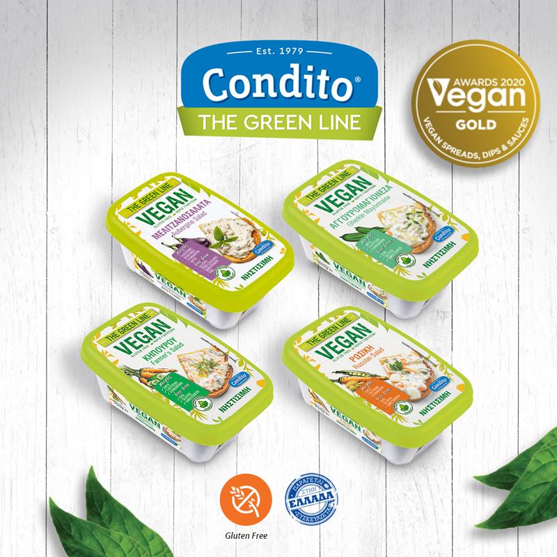 Χρυσή Διάκριση της Condito στα Vegan Awards 2020!